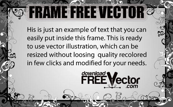 Frame Free Vector