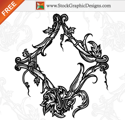 Beautiful Ornamental Floral Free Vector Art Illustration