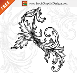 Hand Drawn Floral Free Vector Art Designs