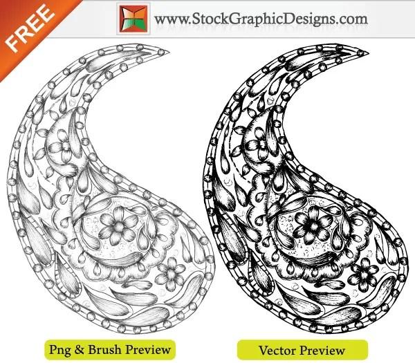 Free Vector Sketchy Hand Drawn Paisley Designs
