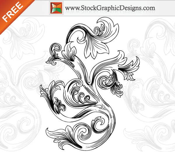 Free Floral Vector Graphics Elements