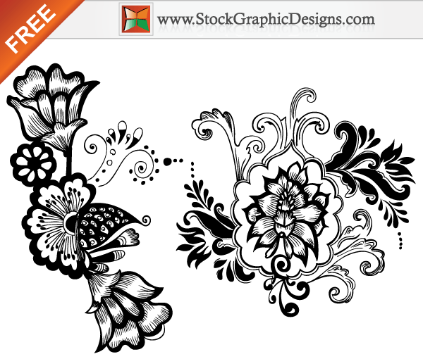 Beautiful Floral Free Vector Art Designs