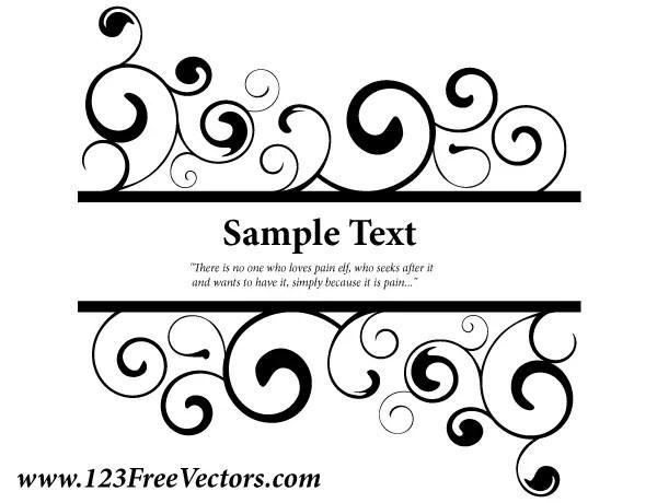 Vector Ornate Swirl Banner