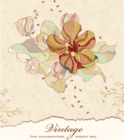 Download Vintage Floral Background Free Vector