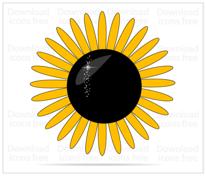 Yellow Sunflower Vector Art