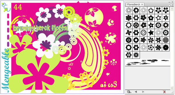 Free Flowers Illustrator Brushes