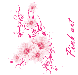 Free Vector Art – Lovely Pink Flowers