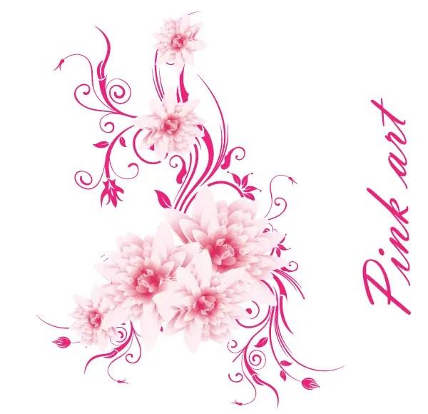 Free Vector Art – Lovely Pink Flowers