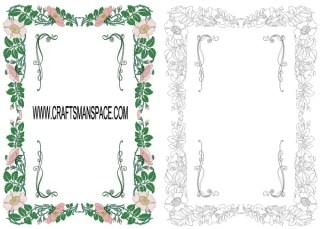 Floral Frame Vector Free