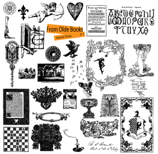 Free Vector Ornaments from Old Books