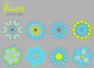 Free Download Simple Vector Flowers