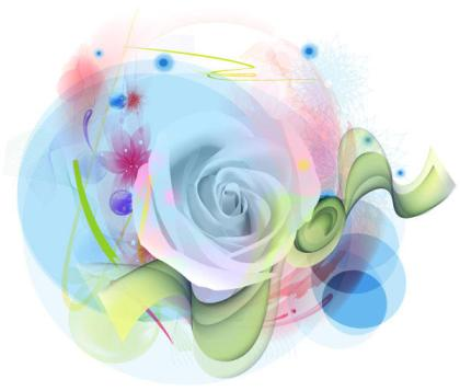 Watercolor Rose Flower Free Vector Image