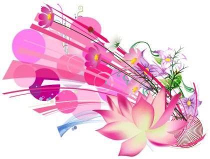 Beautiful Pink Lotus Flower Vector Free