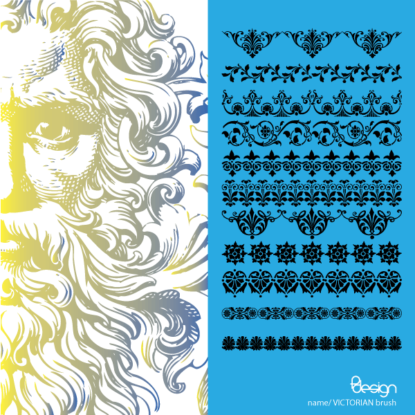 Free Vector Victorian Ornaments Brush Pack