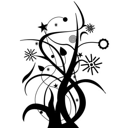Free Swirl Floral Design Vector Art