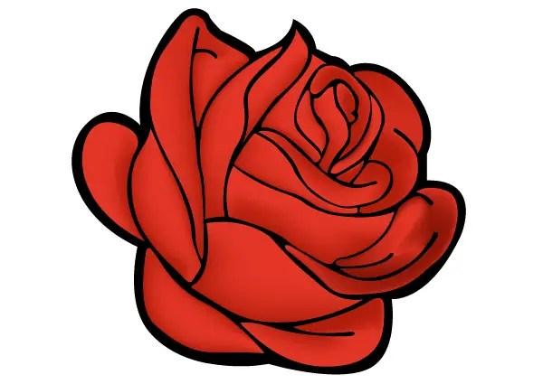 Red Rose Vector Art