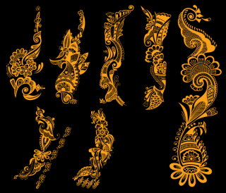 Indian Henna Tattoo Designs Vector Free