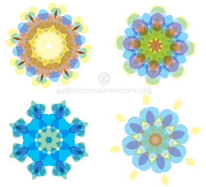 Free Colorful Floral Shapes Vector Pack