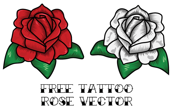 Free Rose Tattoo Vector