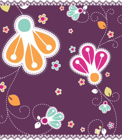 Romantic Flowers Vector Free