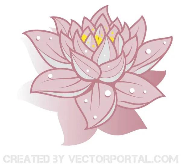 Lotus Flower Vector Art Free