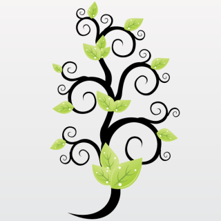 Floral Green Leaves Vector Graphics