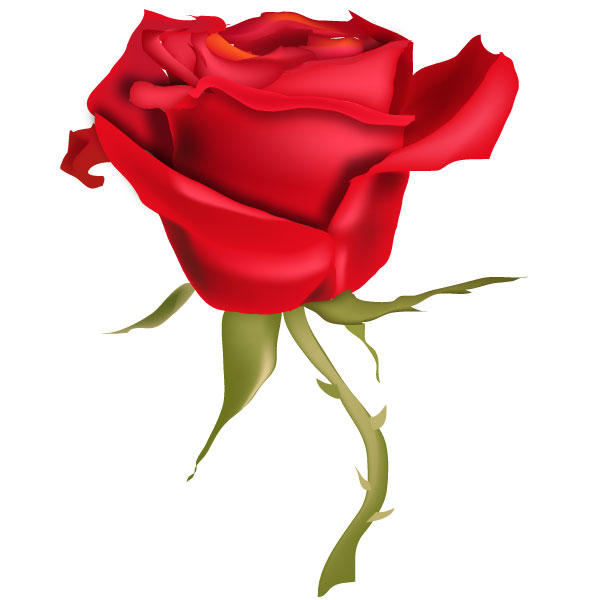 Red Rose Flower Vector Art