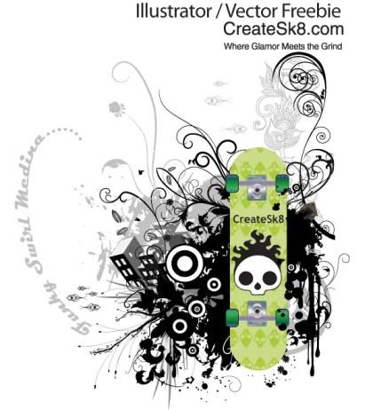 Funky Swirl Vector Graphics
