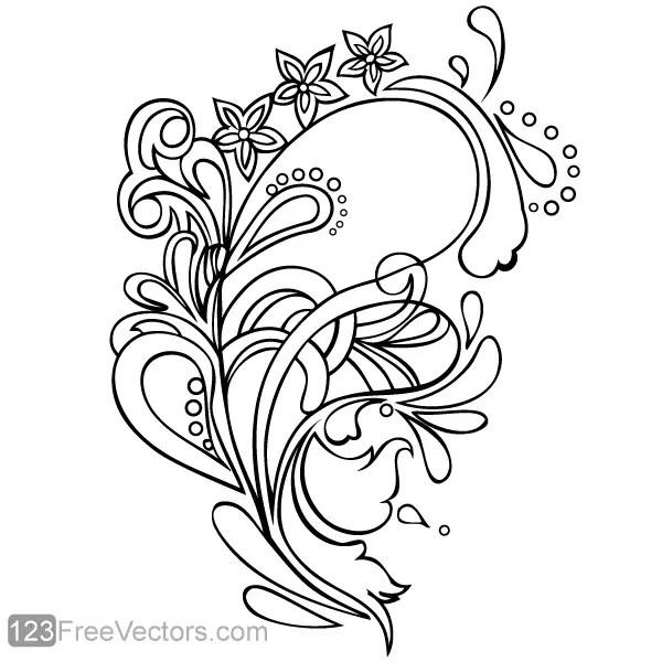 Floral Ornament Vector Graphics
