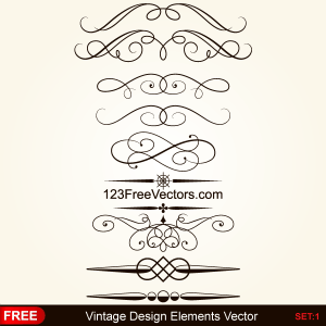 Vintage Calligraphy Borders Vector Graphics