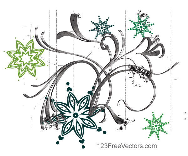 Abstract Flower Design Vector Graphics