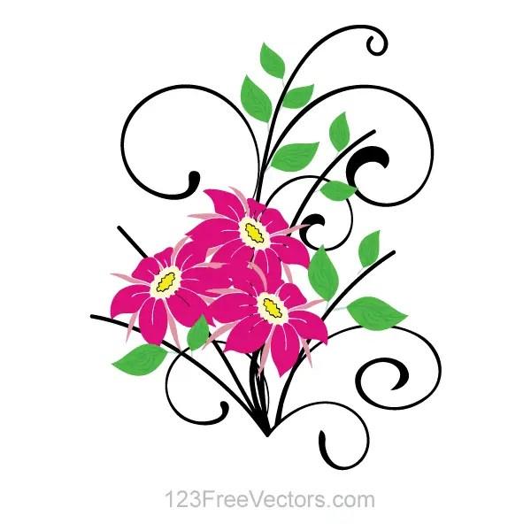 Flower Bouquet Vector Clip Art | 123Freevectors