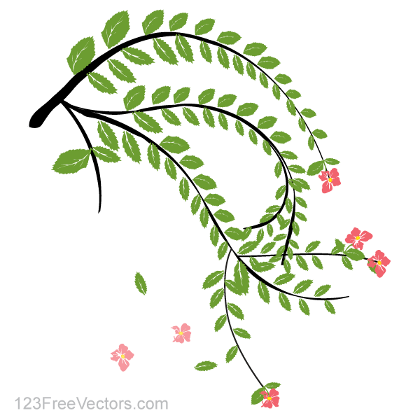 Hibiscus Flower Plant Vector Art