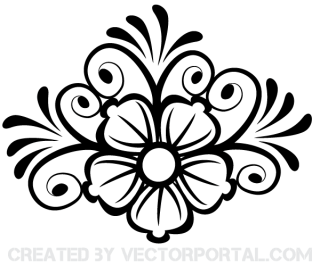 Flower Ornament Vector Art
