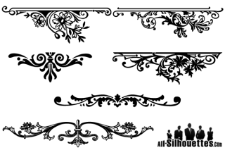 Vector Floral Ornaments Graphic Design