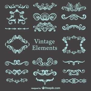 Vector Vintage Decorations Set