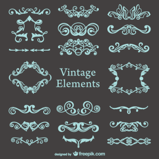 Vector Vintage Decorations Set