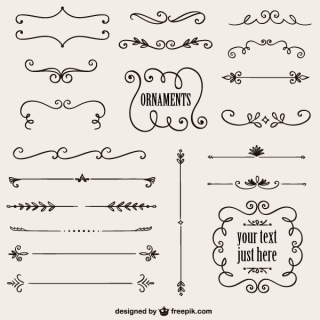 Vintage Calligraphic Decorative Elements Vector