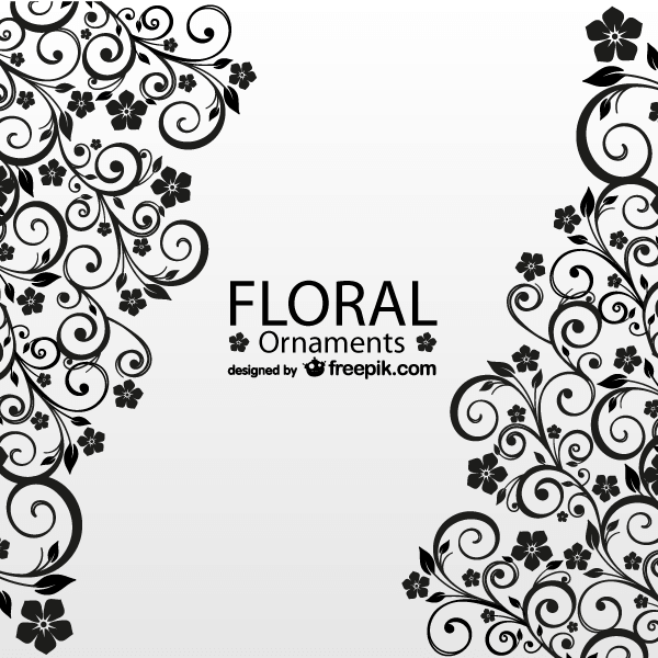 Antique Floral Greeting Card Vector Template