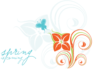 Flower Decoration – Spring is Coming Vector