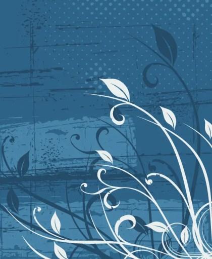 Grunge Floral Landscape Vector Image