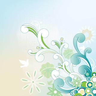 Retro Flourish Decoration Vector Background