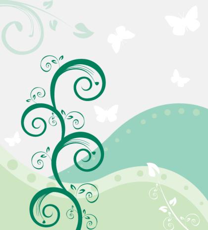 Vector Flower Landscape Wallpaper