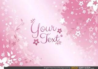 Pink Floral Background Design