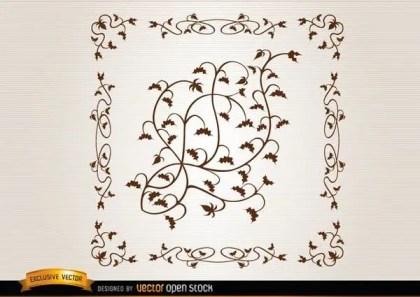 Leaves Ornament Vector Illustrator