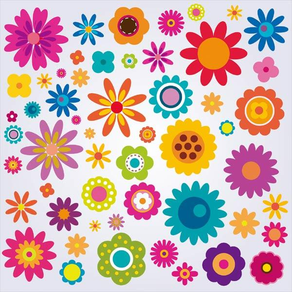 Colorful Flowers Clip Art Pack