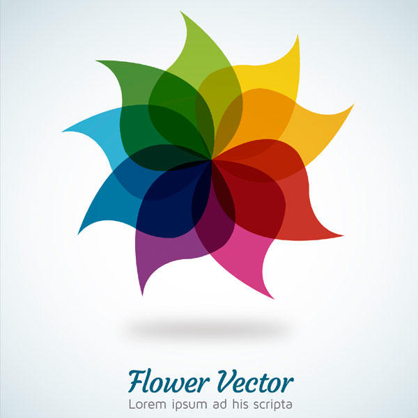 Rainbow Flower Background Illustrator