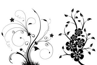 Free Floral Swirls Vector Illustrator