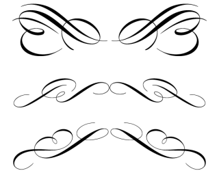 Free Calligraphic Ornament Clip Art