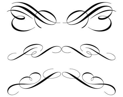 Free Calligraphic Ornament Clip Art